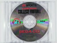 ¤ Bill Walsh College Football ¤ (Game Disc) GREAT Sega Cd Authentic Disc