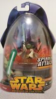 2005 Star Wars Revenge of the Sith Yoda Spinning Attack #26 SEALED NEW