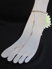 FootChain Jewelry Love Bracelet Rhinestone New Women Metal Silver Anklet Fashion