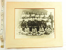 WW1/2 Military Naval Photograph Officers And Soldiers Boxing Team Trophies (3466