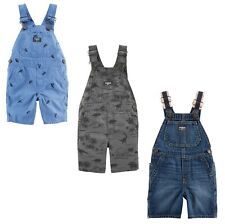 Shortalls Boys Oshkosh Bgosh Toddler Boy Blue Gray...