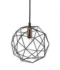 Lámpara Lámpara Colgante Bola hierro metal diseño industria negro cobre E27