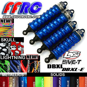 LOSI 5IVE-T DBXL DBXL-E 2.0 SHOCK BOOTS - COVERS / SOX BY FULLFORCE RC - (4 PCS)