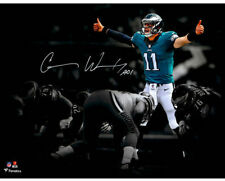 CARSON WENTZ Autographed Philadelphia Eagles 11 x 14 Spotlight Photo FANATICS