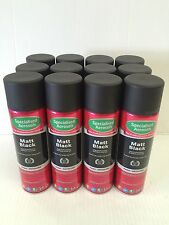 MATT BLACK SPRAY PAINT 500ML AEROSOL X 24 AEROSOLS