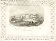 church & royal hotel -  sheerness ! steel engraving with vignettes
