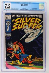 Silver Surfer #4 - Marvel 1969 - CGC 7.5 - Thor and Loki App!