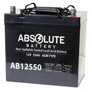NEW 12V 55AH Battery Replaces Hy-Security SlideSmart DCS 15 Solar Gate Operator