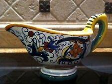 Deruta Italy Italian Pottery RICCO 'Salsiera', or GRAVY BOAT - New!