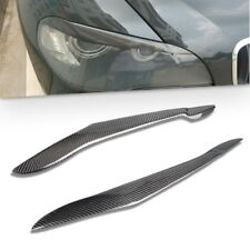 Real Carbon Fiber Headlight Cover Eyebrows Eyelid for BMW X5 E70 2007 2010 2013