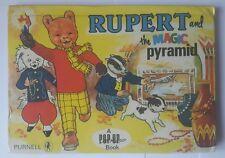 rupert bear book - vintage rupert and the magic pyramid book 1970