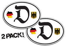2 Pack Of Custom German Decal Stickers Deutschland Window Graphics Germany Pride