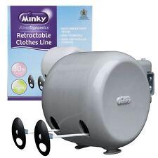 30m Minky Retráctil Ropa Exterior Carrete lavado línea Doble Nuevo