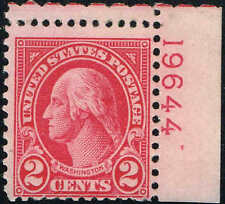 #634A PLATE #19644 1928 2c TYPE II ROTARY ISSUE MINT-OG/NH