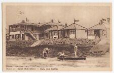 Hôtel & Chalets Bonenfant BAIE DES SABLES Quebec 1930-40s Intaglio Gravure