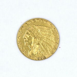 1926 $2-1/2 INDIAN HEAD QUARTER EAGLE GOLD PIECE XF US COLLECTIBLE COIN 90% GOLD
