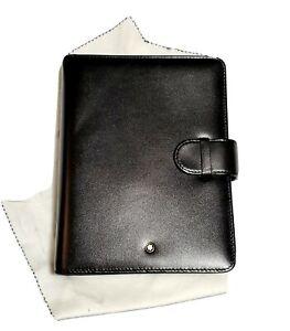 Montblanc Meisterstuck Black Medium Organizer Leather 5 cc 30550 NIB