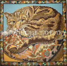 EHRMAN vintage CARPET CAT by KAFFE FASSETT NEEDLEPOINT TAPESTRY KIT rare
