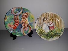 2 Wedgwood Collector Plates Riding High and Be My Friend Numbered