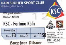 Ticket - Karlsruher SC v Fortuna Koln 1998/9