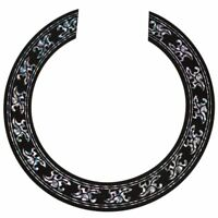 Sound hole Rose Decal Sticker for Acoustic Classical Guitar Parts Black+Sil F8R0