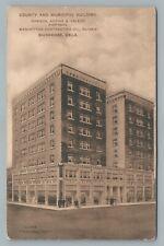County Building MUSKOGEE Oklahoma—Kedian Armenian Architect—Antique RPO 1913