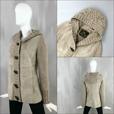 RARE Loro Piana Ladies CASHMERE SHEARLING Hooded Jacket Short Coat Size IT38 XS
