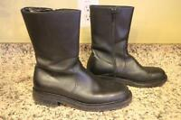 J.CREW Women's Black Leather Calf Boots Size 9.5 #49187 (bot1500