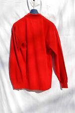 polo ettore Bugatti manica lunga uomo cotone EB XXL rosso logo piccolo