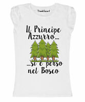 New T-Shirt Donna Fiammata Principe Si È Perso Nel Bosco Idea Regalo
