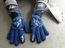 GUANTI AUTO OMOLOGATI ALPINESTARS TECH XXL RACING GLOVES RALLY BLUE GUANTES