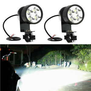 2x 4LED 12-24V Car Work Light Driving Spotlight IP65 for Auto Motorcycle + Clamp
