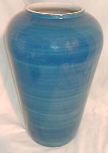"""Indigo Blue House Beautiful Porcelain Vase Large 12 5/8"""""""