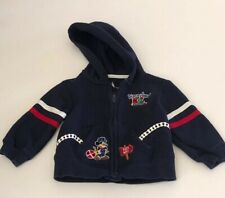 RARE DISNEY PARKS BABY BOY ZIP UP BLUE SWEATER MICKEY MOUSE. FREE SHIPPING