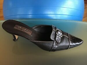 Brighton Precia Made In Italy Shoes Mules Brown Size 7