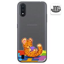 Funda Gel Transparente para Samsung Galaxy A01 diseño Leopardo Dibujos