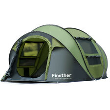 Waterproof 5 People Automatic Instant Pop Up Tent Family Camping Tent Green US