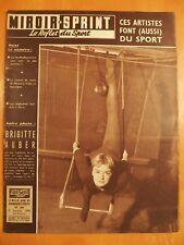Miroir Sprint N° 605 du 6/1/1958-Brigitte Auber trapéziste-Foot, Lille-Reims 2-1