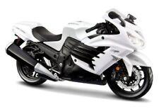 Maisto 1/12 Scale Kawasaki Ninja ZX-14R White Diecast Motorcycle JC