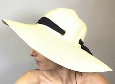 New Straw Hat Ladies Womens Summer Holiday Sun Beach Natural  Black Scarf Bow