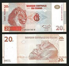 Congo 20 Francs 1997, AU / UNC , P-88