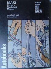 Austin Maxi 1500, 1750 HL Autobook Workshop, Service & Repair Manual 1969-76