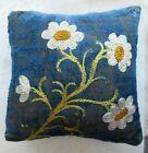 Antique+Victorian+Embroidered+Daisies+Monogramed+RUTH+Velvet+PINCUSHION