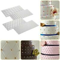 4Pcs Plastic Texture Fondant Cake Mold Sheet Mat SugarCraft Decoration Tool