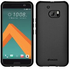 AMZER Exclusive Pudding Matte TPU Skin Case For HTC 10 One M10 Lifestyle - Black