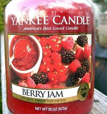 "Yankee Candle Retired ""BERRY JAM"" Fruit Scent Large 22 oz. ~ WHITE LABEL ~ NEW!"