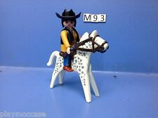(M93) playmobil texane à cheval western custom