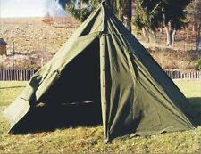 Genuine Army Surplus 2 MAN CANVAS TEEPEE TENT Rain Ponchos festival camping +