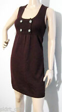 CUE IN THE CITY size S 8 / 10, 50% wool, 50% deep burgundy DRESS excel cond