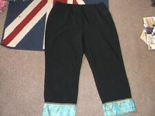 Black, Turquoise and Gold Trousers....Size 14